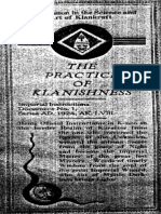Ku Klux Klan - The Practice of Klanishness (1924)