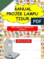 Manual Projek Lampu Tidur