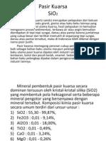 Presentasi Pasir Kuarsa
