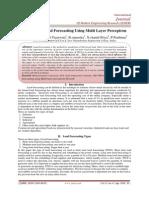 Short Term Load Forecasting Using Multi Layer Perceptron