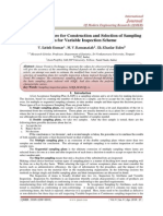 Modified Procedure for Construction and Selection of Sampling  Plans for Variable Inspection Scheme