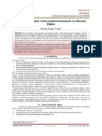 An Analytical Study of International Standards on Minority  Rights