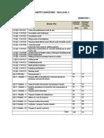 Curriculum Outline Quantity Surveying