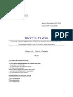 Td 2 Droit Du Travail 2013-14