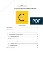 129. Research Proposal_Correlation Among Managerial Factor and Firm Productivity