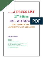 New Drug List 1961 to Feb 2014 Pharmadocx 31.03.2014