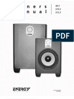 Energy Speaker Systems Owners Manual Floorstanding Speaker s8 3 s10 3 s12 3 for Energy Speaker Systems s10 3 Speaker