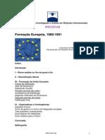 Formação Europeia - 1989-1991