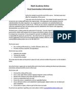 bao final exam information may 2014 update