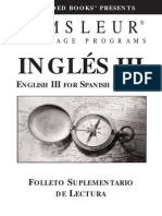 Pimsleur English for Spanish Speakers III,