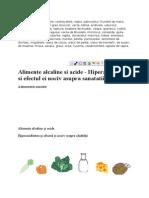 Alimente Acide vs Alcaline
