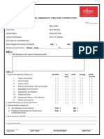 Employee Assesment Form for Confirmation