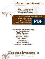 Membrane Investment Business Cards & Letterhead