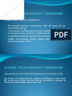 A Guide to Lsa Aircraft Ownership