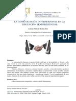 La Comunicación Interpersonal en La Educación Semipresencial