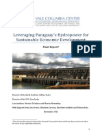 Jeffrey Sachs - Leveraging Paraguays Hydropower for Economic Development FINAL REPORTt