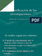 Una Clasificacion de Las Investigaciones