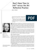 Reflective Practice Article