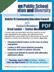 District 15 Segregation & Diversity Forum