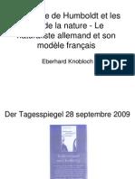 Eberhard Knobloch - Alexandre de Humboldt et les lois de la nature. Le naturaliste allemand et son modèle français