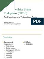 05.31.13 Non-Convulsive Status Epilepticus (NCSE) - Bittel