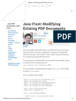 Modifying an Existing Document With IText PDF API in Java