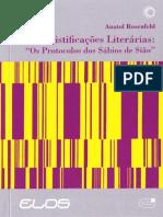 Anatol Rosenfeld - Mistificações Literárias - Os Protocolos Dos Sábios de Sião