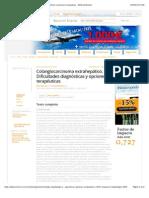 Colangiocarcinoma Extrahepc3a1tico Dificultades Diagnc3b3sticas y Opciones Terapc3a9uticas Editorial Elsevier