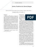 Dengue Virus Infection Predictors for Severe Dengue