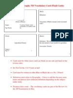 2 Vocabulary Card Instructions