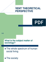 Theoretical Perspective in Sociology