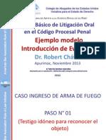 Ejemplo de Introducción de Evidencias - Robert Chávez