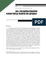 Axel Honneth Reconhecimento e Grupos