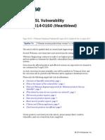 OpenSSL Vulnerability CVS-2014-0160 - Heartbleed