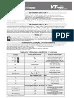 Manual operação e instalação do Vt 1000 Slim Automatic o