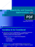 Selectivity and Capacity Optimization 1