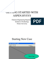 Getting Started With Aspen.hysys