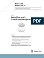 Neutral Currents in Three Phase Wye Systems