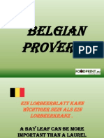 Belgian Proverbs