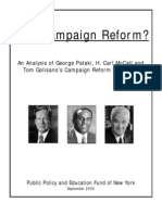 Real Campaign Reform?