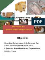 Plan HACCP Para Carne de Cuy Empacado Al