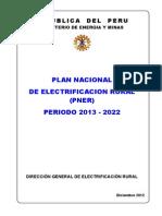 Plan Nacional de Electrificacion Rural 2013 2022