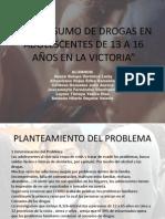El Consumo de Drogas en Adolescentes de 13 a 16 2014