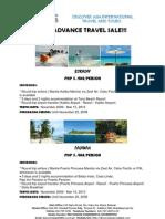 2010 Advance Travel Sale!!!