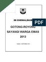 Gotong Royong Warga Emas 2013