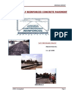 Continuously Reinforced Concrete Pavement