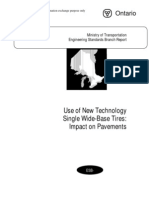 Use of New Technology Single Wide-Base Tires Impact on Pavements