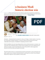 India's Pro-business Modi Storms to Historic Election Win