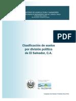 Clasificacion de Suelos Por Division Politica de El Salvador(1)
