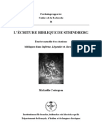 l'Écriture Biblique de Strindberg